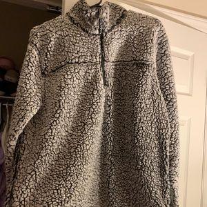 Grey/ Black Sherpa pullover- True grit dupe
